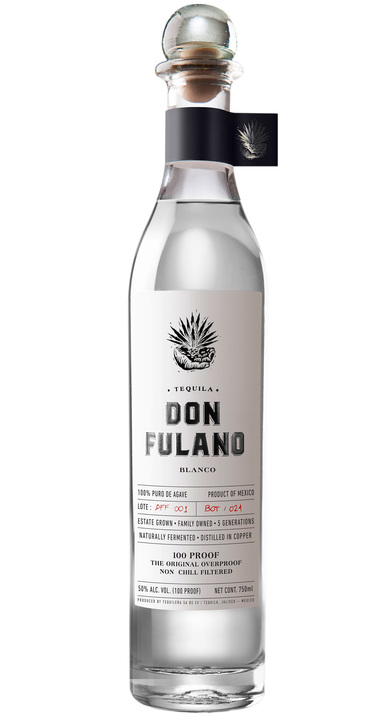 Bottle of Don Fulano Blanco Fuerte (100 proof)