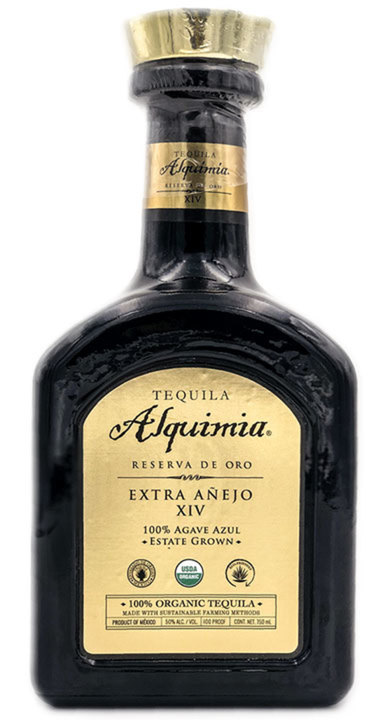 Bottle of Tequila Alquimia Extra Añejo XIV