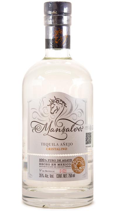 Bottle of Mansalvo Tequila Añejo Cristalino