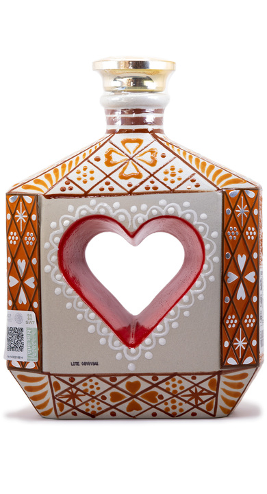 Bottle of Riqueza Cultural Añejo (Heart Bottle)