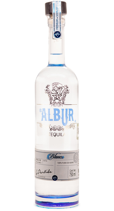 Bottle of El Albur Tequila Blanco
