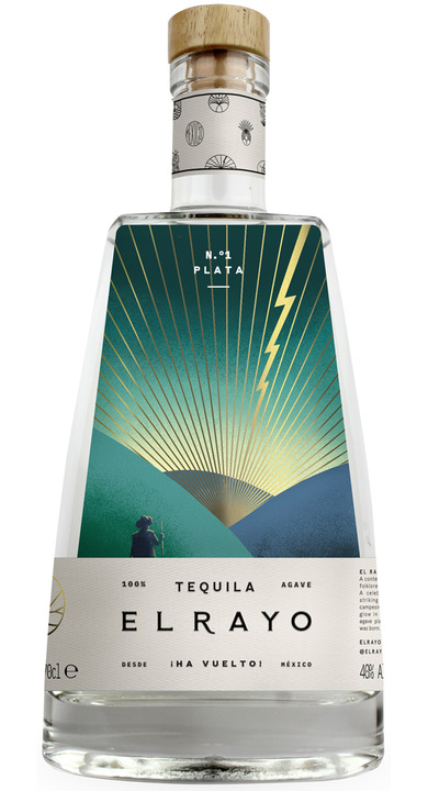 Bottle of El Rayo Tequila Plata