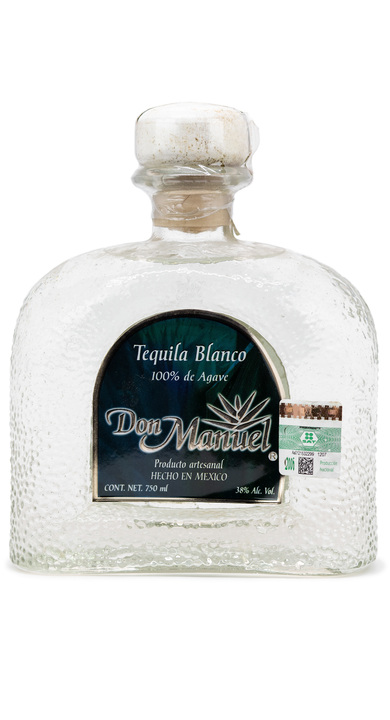Bottle of Don Manuel Tequila Blanco