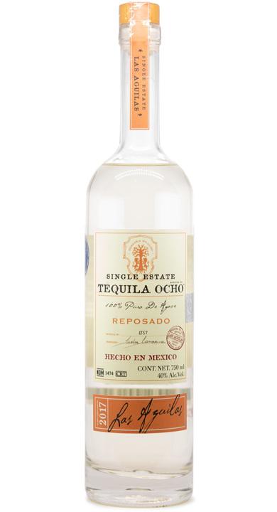 Bottle of Ocho Tequila Reposado - Las Aguilas 2017