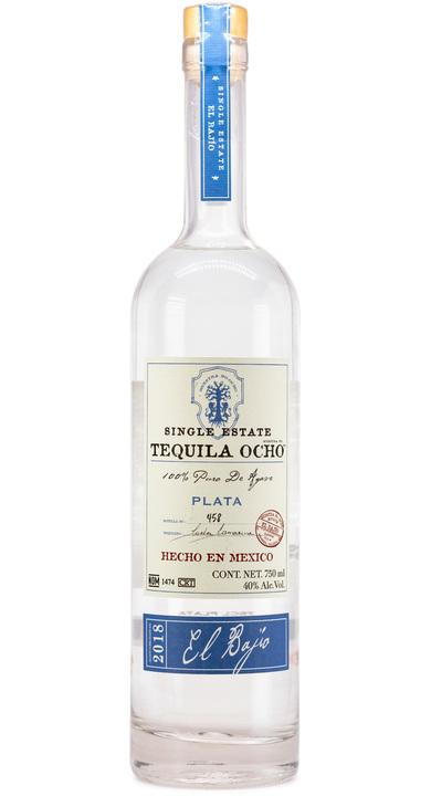 Bottle of Ocho Tequila Plata - El Bajío 2018