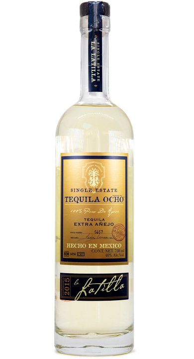 Bottle of Ocho Tequila Extra Añejo - La Latilla 2015