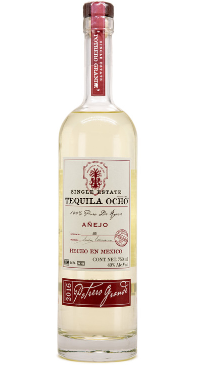 Bottle of Ocho Tequila Añejo - Potrero Grande 2016