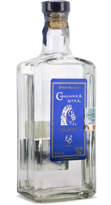 Bottle of Cabalgadura Azteca Tequila Blanco