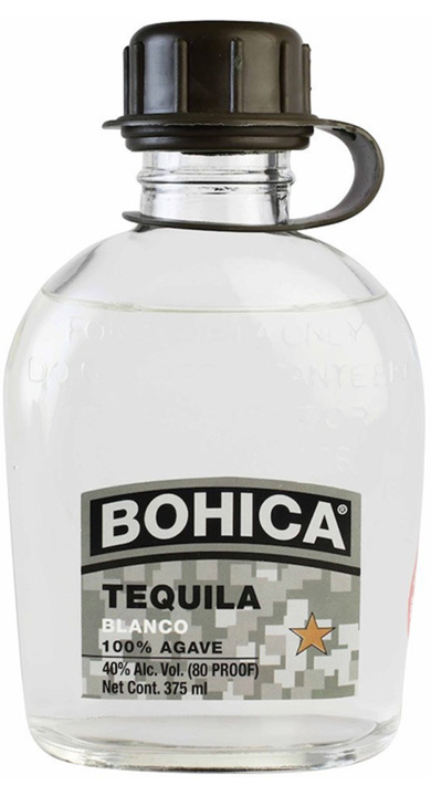 Bottle of Bohica Tequila Blanco