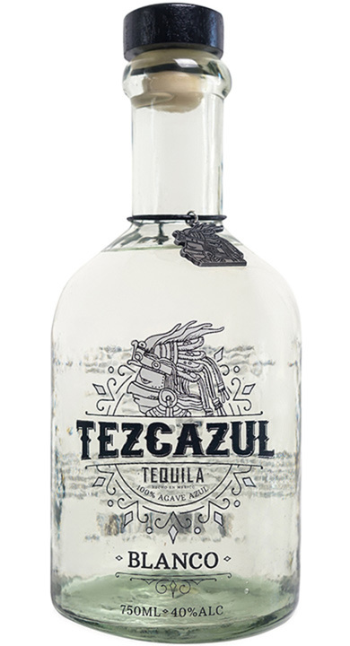 Bottle of Tezcazul Tequila Blanco