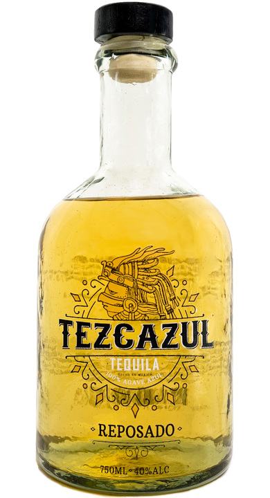 Bottle of Tezcazul Tequila Reposado