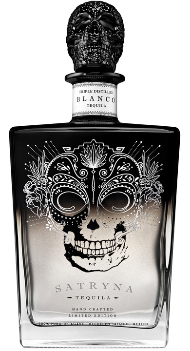 Bottle of Satryna Tequila Blanco