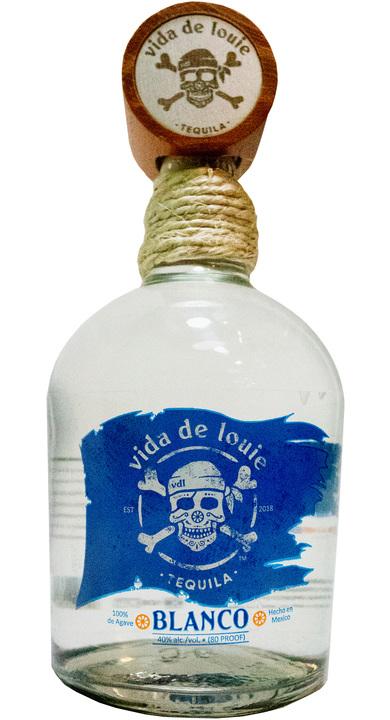 Bottle of Vida de Louie Tequila Blanco
