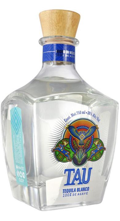 Bottle of Tau Tequila Blanco