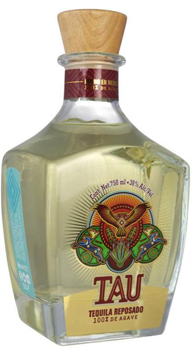 Bottle of Tau Tequila Reposado