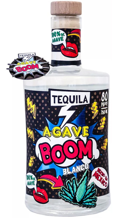 Bottle of Agave Boom Tequila Blanco