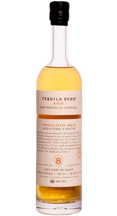 Bottle of Ocho Tequila 8/8/8 - Rancho El Carrizal Extra Añejo