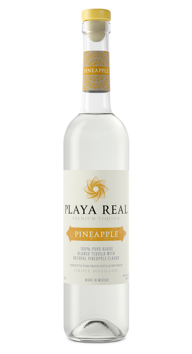 Bottle of Playa Real Pineapple Tequila