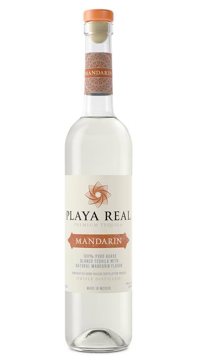 Bottle of Playa Real Mandarin Tequila