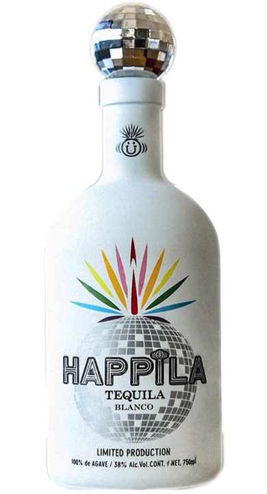 Bottle of Happila Tequila Blanco