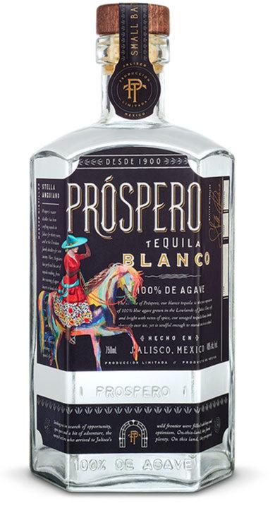 Bottle of Prospero Tequila Blanco