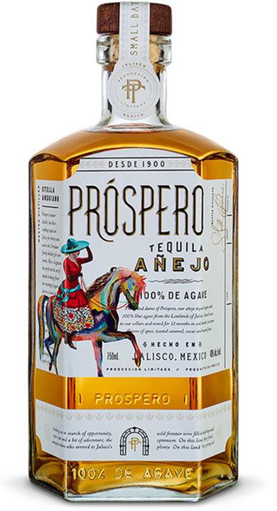 Bottle of Prospero Tequila Añejo