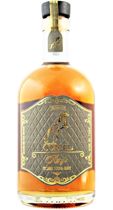 Bottle of Tequila Corcel Añejo