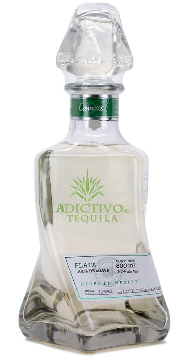 Bottle of Adictivo Tequila Plata (Cannabis)