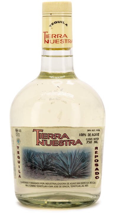 Bottle of Tierra Nuestra Tequila Reposado