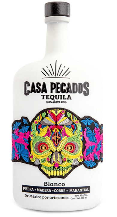 Bottle of Casa Pecados Tequila Blanco