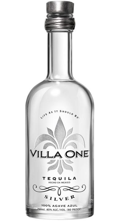 Bottle of Villa One Tequila Silver
