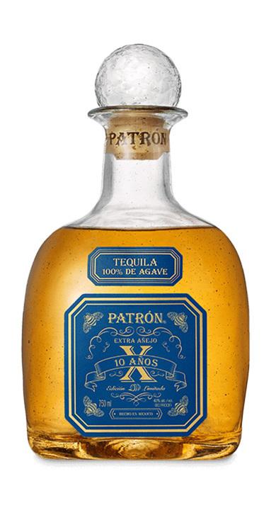 Bottle of Patrón Extra Añejo 10 Años