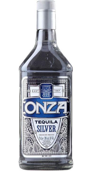 Bottle of Onza Tequila Silver