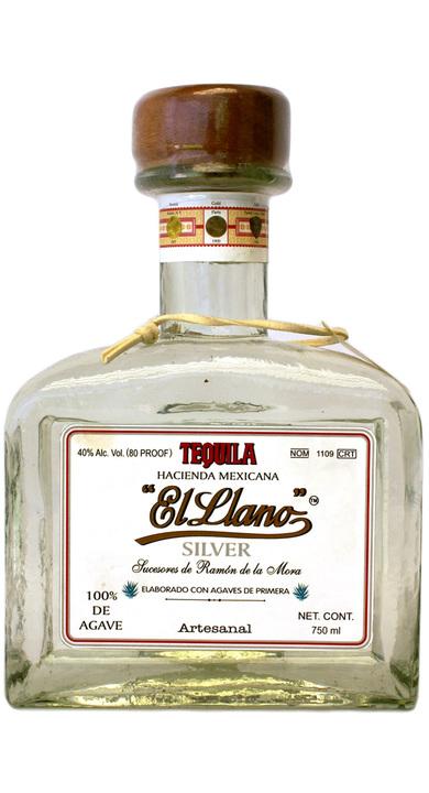 Bottle of El Llano Silver