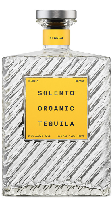 Bottle of Solento Organic Tequila Blanco