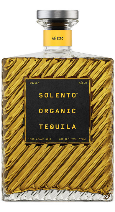 Bottle of Solento Organic Tequila Añejo
