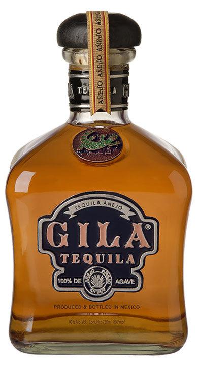 Bottle of Gila Tequila Añejo