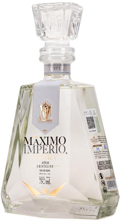 Bottle of Maximo Imperio Añejo Cristalino