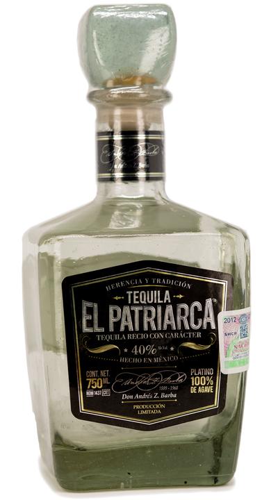 Bottle of Tequila El Patriarca Platino