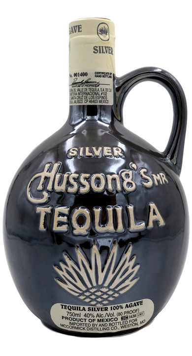 Bottle of Hussong's Silver Tequila