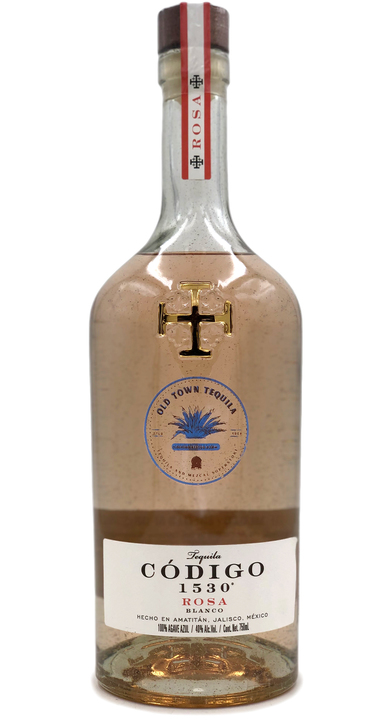 Bottle of Codigo 1530 Rosa Blanco (Old Town Tequila Edition)