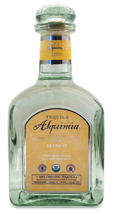 Bottle of Tequila Alquimia Blanco