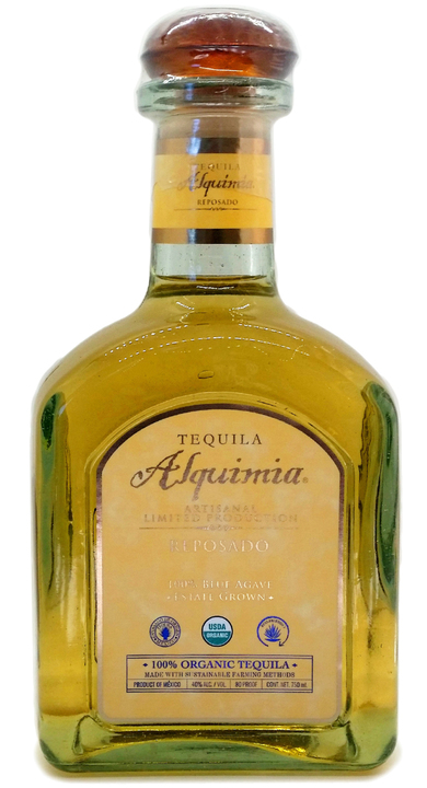Bottle of Tequila Alquimia Reposado