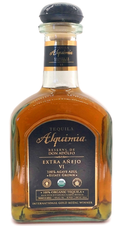Bottle of Tequila Alquimia Reserva de Don Adolfo Extra Añejo