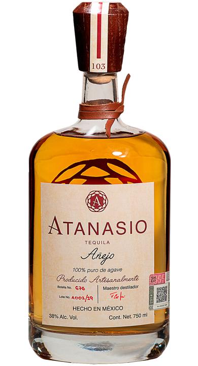 Bottle of Atanasio Añejo