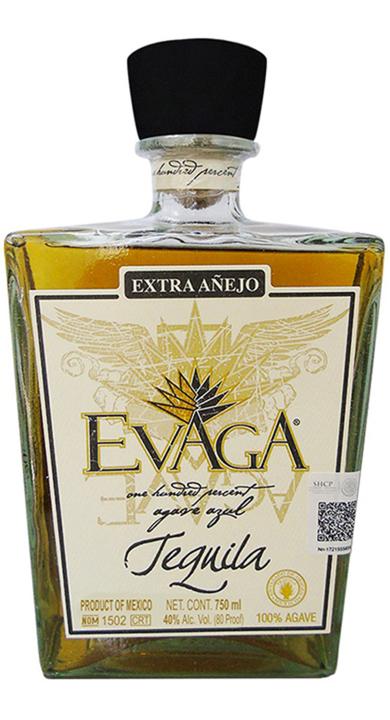 Bottle of Evaga Extra Añejo