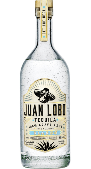 Bottle of Juan Lobo Blanco Tequila