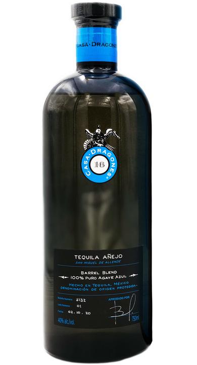 Bottle of Casa Dragones Barrel Blend Añejo