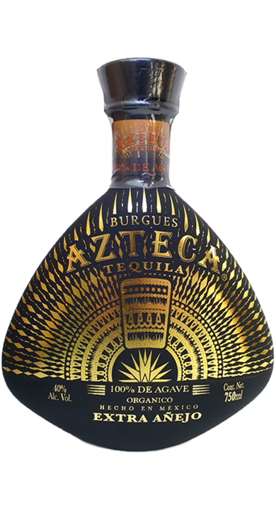 Bottle of Burgues Azteca Tequila Extra Añejo