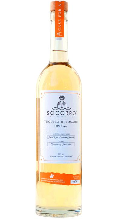 Bottle of Socorro Tequila Reposado